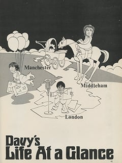 <cite>Tiger Beat Presents Davy Jones</cite> (December 1967), Davy's Life at a Glance, Page 41