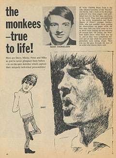 <cite>16 Spec</cite> (Winter 1968), The Monkees—True to Life, Page 62