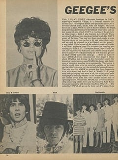 <cite>16</cite> (January 1968), Geegee's Gossip, Page 36