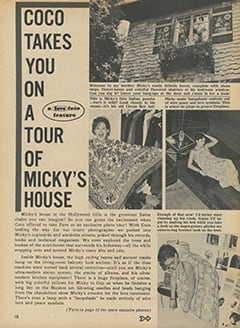 <cite>Fave</cite> (January 1968), Coco Takes You on Tour of Micky's House, Page 10