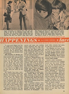 <cite>Fave</cite> (January 1968), Fave Happenings, Page 25