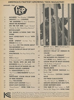<cite>Flip</cite> (January 1968) table of contents