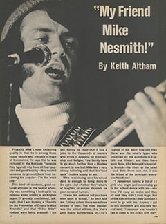 <cite>Flip</cite> (January 1968), My Friend Mike Nesmith, Page 32