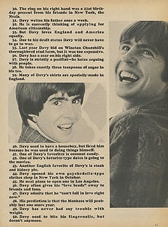 <cite>Monkee Spectacular</cite> (January 1968), 50 True Facts About Davy Jones, Page 11
