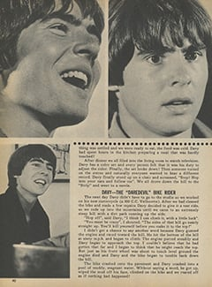 <cite>Monkee Spectacular</cite> (January 1968), Davy Jones: An Actor Who Never Acts, Page 40