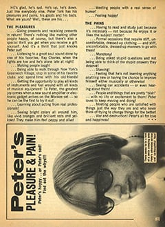 <cite>Teen Pin-ups</cite> (January 1968), Peter's Pleasure & Pain, Page 23