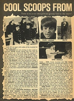 <cite>Teen Pin-ups</cite> (January 1968), Cool Scoops from Starsville, Page 24