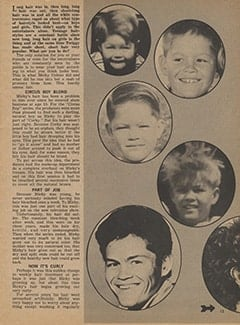 <cite>Tiger Beat</cite> (January 1968), Micky&rsquo;s Many Hairstyles, Page 13
