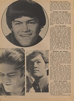 <cite>Tiger Beat</cite> (January 1968), Micky&rsquo;s Many Hairstyles, Page 14
