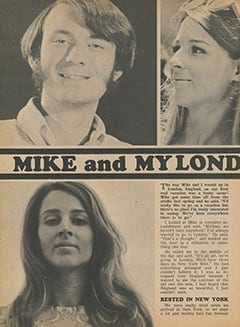 <cite>Tiger Beat</cite> (January 1968), Mike and My London Memories, Page 30