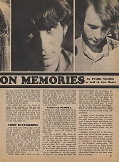 <cite>Tiger Beat</cite> (January 1968), Mike and My London Memories, Page 31