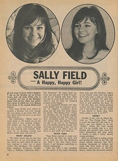 <cite>Tiger Beat</cite> (January 1968), Sally Field: A Happy, Happy Girl, Page 32