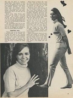 <cite>Tiger Beat</cite> (January 1968), Sally Field: A Happy, Happy Girl, Page 33
