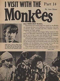 <cite>Tiger Beat</cite> (January 1968), I Visit with The Monkees (Part 14), Page 40