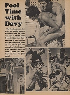 <cite>Tiger Beat</cite> (January 1968), Pool Time with Davy, Page 48