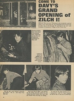 <cite>16</cite> (February 1968), Come to Davy's Grand Opening of Zilch I, Page 22