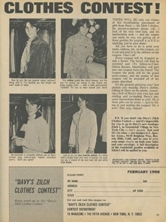 <cite>16</cite> (February 1968), Davy's Zilch Clothes Contest, Page 25