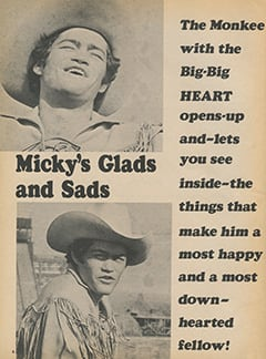 <cite>Fave</cite> (February 1968), Micky's Glads and Sads, Page 04