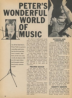 <cite>Fave</cite> (February 1968), Peter's Wonderful World of Music, Page 32