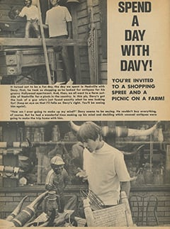 <cite>Flip</cite> (February 1968), Spend a Day with Davy, Page 03