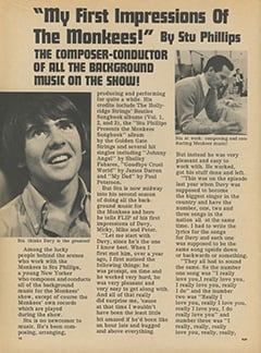 <cite>Flip</cite> (February 1968), My First Impressions of The Monkees, Page 12