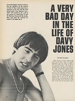 <cite>Hullabaloo</cite> (February 1968), A Very Bad Day in the Life of Davy Jones, Page 22