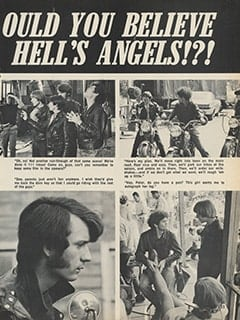 <cite>Hullabaloo</cite> (February 1968), Vroom! Vroom! Would You Believe The Monkees As Hell's Angels!?!, Page 33