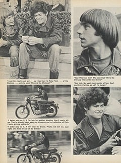 <cite>Hullabaloo</cite> (February 1968), Vroom! Vroom! Would You Believe The Monkees As Hell's Angels!?!, Page 36