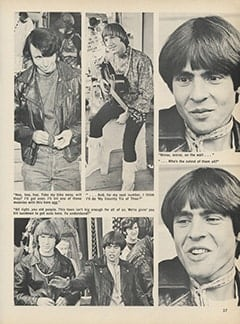 <cite>Hullabaloo</cite> (February 1968), Vroom! Vroom! Would You Believe The Monkees As Hell's Angels!?!, Page 37
