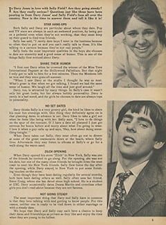 <cite>Monkee Spectacular</cite> ((originally February 1968) 1987), The Truth About Sally Field and Davy Jones, Page 05