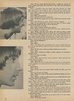 <cite>Monkee Spectacular</cite> ((originally February 1968) 1987), Ann Moses Exchanges Frank Confusion with Peter Tork, Page 18