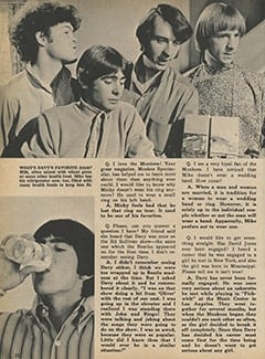 <cite>Monkee Spectacular</cite> (February 1968), Monkee Rumors, Page 22