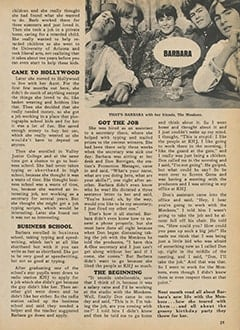 <cite>Monkee Spectacular</cite> (February 1968), My Groovy Job with The Monkees, Page 29