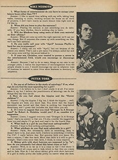 <cite>Monkee Spectacular</cite> (February 1968), You Interview The Monkees, Page 39