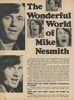 <cite>Monkee Spectacular</cite> ((originally February 1968) 1987), The Wonderful World of Mike Nesmith, Page 40