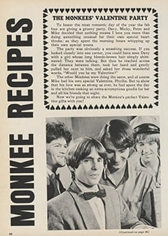 <cite>Monkee Spectacular</cite> (February 1968), Monkee Recipes, Page 44