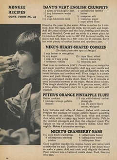 <cite>Monkee Spectacular</cite> (February 1968), Monkee Recipes, Page 46