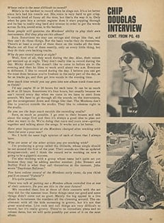 <cite>Monkee Spectacular</cite> (February 1968), Chip Douglas Interview, Page 51