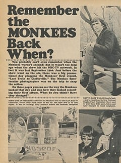 <cite>Monkee Spectacular</cite> (February 1968), Remember The Monkees Back When?, Page 54