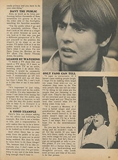 <cite>Monkee Spectacular</cite> ((originally February 1968) 1987), Remember&mdash;Davy&rsquo;s a Person, Too, Page 59