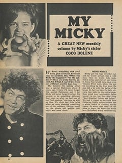 <cite>Monkee Spectacular</cite> ((originally February 1968) 1987), My Micky, Page 62