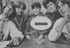 Mike Nesmith, Peter Tork, Barbara Hamaker, Micky Dolenz, Davy Jones