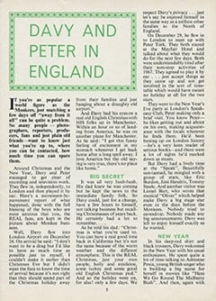 <cite>Monkees Monthly</cite> (February 1968), Davy and Peter in England, Page 05