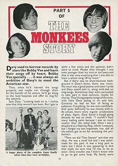 <cite>Monkees Monthly</cite> (February 1968), The Monkees Story (Part 5), Page 10