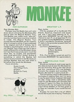<cite>Monkees Monthly</cite> (February 1968), Monkee Mail, Page 28
