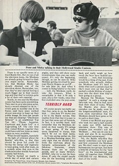 <cite>Monkees Monthly</cite> (February 1968), Monkees Top Everyone on TV, Page 31
