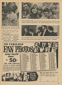 <cite>Teen Screen</cite> (February 1968), TS in Hollywood, Page 13