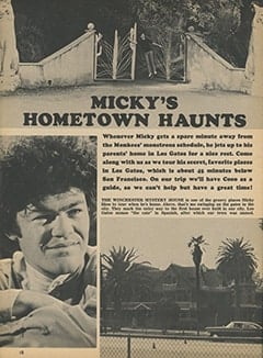 <cite>Tiger Beat</cite> (February 1968), Micky&rsquo;s Hometown Haunts, Page 10