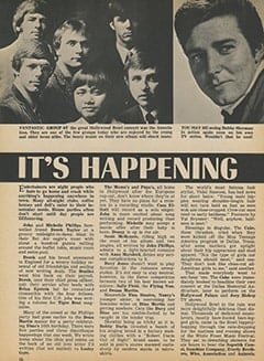 <cite>Tiger Beat</cite> (February 1968), It's Happening in Hollywood, Page 16