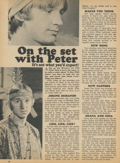 <cite>Tiger Beat</cite> (February 1968), On the Set with Peter, Page 18